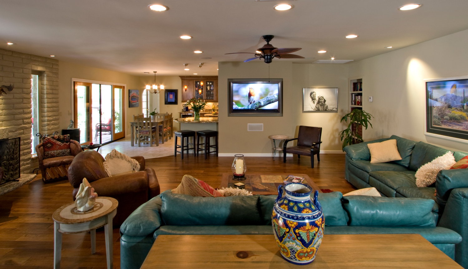 Living Room Family Room Remodel mm kitchen family room 3 beautiful remodel