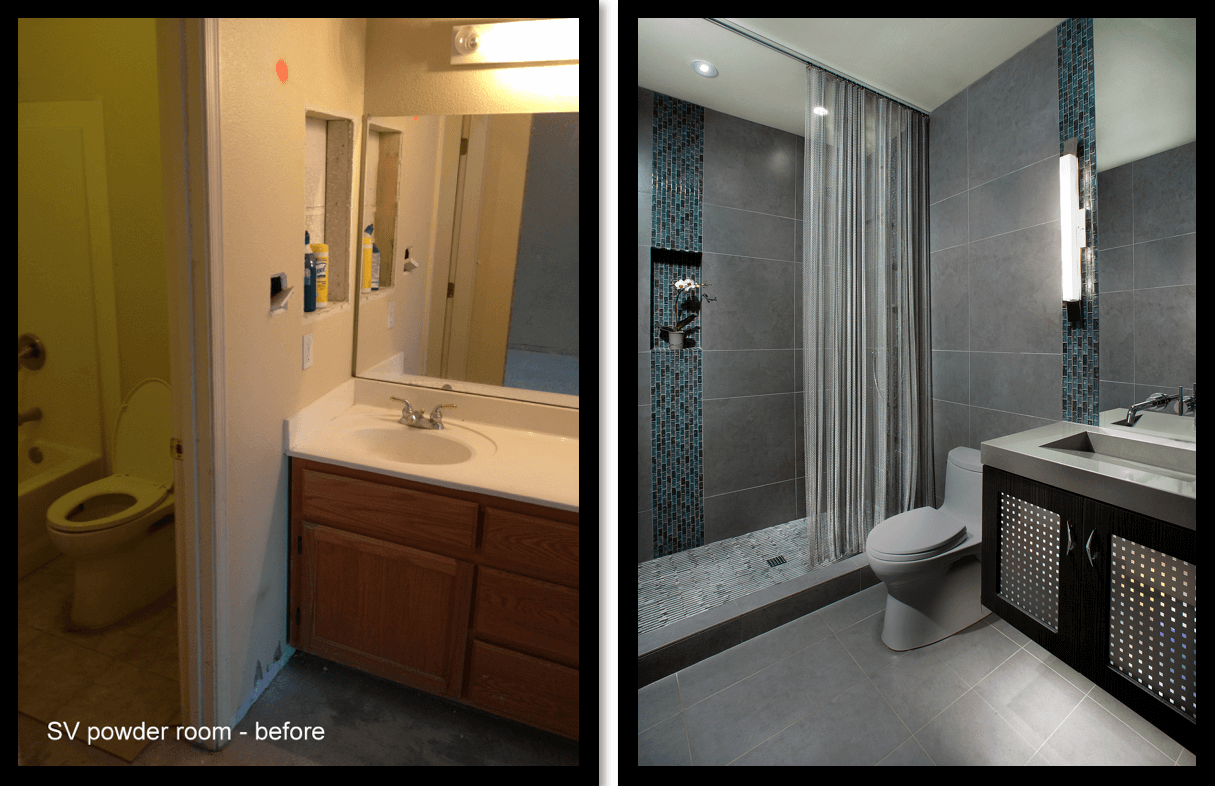SV Powder room before and after