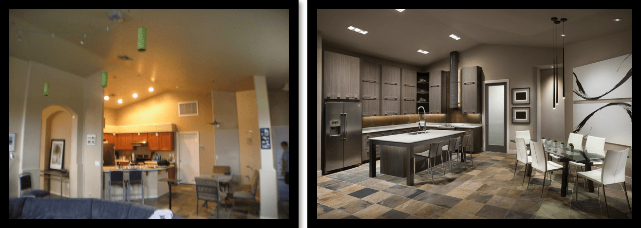 WNL Kitchen before and after
